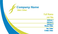 Green and Blue Health and Wellness Business Card Template
